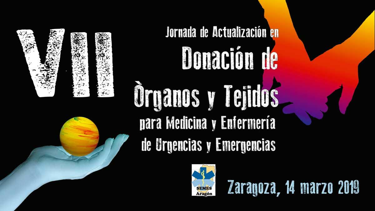 VII Jornada Donación Organos y Tejidos SEMES ARAGON